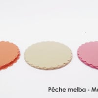 "30 - Scalloped Circles ""Melba Peach"""
