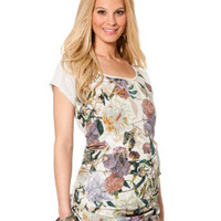 Jessica Simpson Short Sleeve Scoop Neck Screen Print Maternity T Shirt