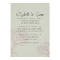 Custom Modern Flower Wedding Invitations
