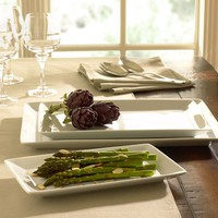 GREAT WHITE RECTANGULAR SERVING PLATTERS