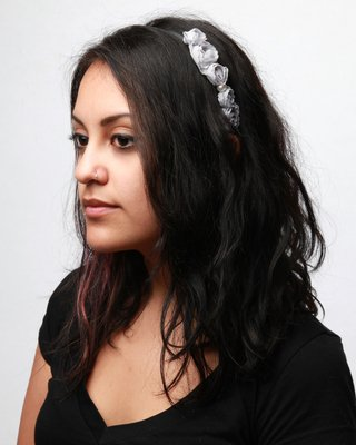 Bluebell Flower Headband - Grey - Punk.com
