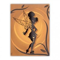 Fairy Of Peter Pan Wood Print