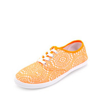 NEON CROCHET OVERLAY CANVAS SNEAKERS