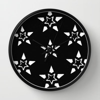 Stars In A Circle In A Square Wall Clock by Jensen Merrell Designs