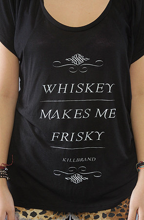 Kill Brand Whiskey Frisky Soft Slub : Karmaloop.com - Global Concrete Culture