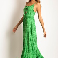 Arnhem Clothing Avani Maxi dress in green sahara: Soleilblue.com