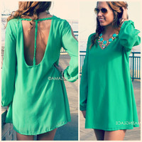 Anaheim Green T-Strap Back Dress
