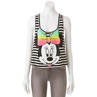 Disney Minnie Mouse Striped Crop Tank - Juniors