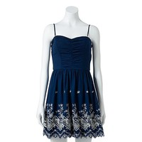 Speechless Embroidered Dress - Juniors