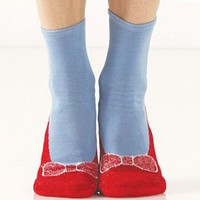 Ruby Red Slipper Socks Fun Novelty Womens Footwear