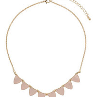 PALE PINK BUNTING NECKLACE