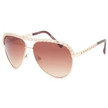 Full Tilt Cassie Chain Aviator Sunglasses Gold One Size For Women 23834162101