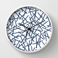 Kerplunk Repeat Navy on White Wall Clock by Project M
