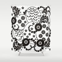 Floral Circles of Life Shower Curtain by EML - CircusValley