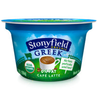 Stonyfield® Organic Café Latte Greek Yogurt - Fat Free
