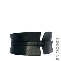 ASOS CURVE Wide Waist Cincher Buckle Belt