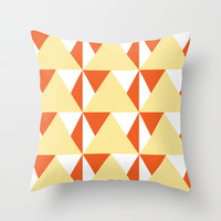 Geometric Pattern 3-Yellow Throw Pillow by mollykd