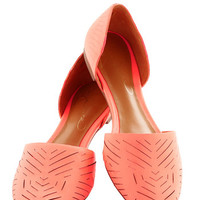 Grounded in Glam Flat in Coral | Mod Retro Vintage Flats | ModCloth.com