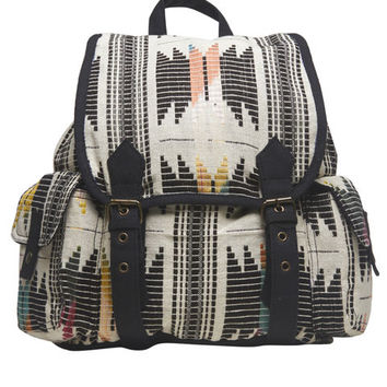 Multi-Colored Pattern Backpack | Wet Seal