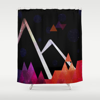 Space Mountain Shower Curtain by DuckyB (Brandi)