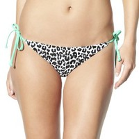 Xhilaration® Junior's Side Tie Swim Bottom -Animal Print