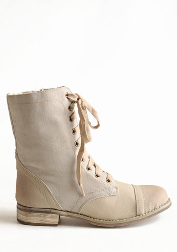 Tawny Combat Boots in Beige - $69.00 : ThreadSence.com, Your Spot For Indie Clothing  Indie Urban Culture