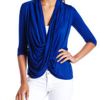 Charlotte Russe - Draped Cross-Over Top