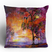 "Ginette Fine Art Okefenoee Sunset Throw Pillow - Indoor / 26"" x 26"" / Pillow Cover Only"
