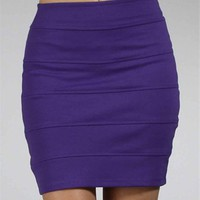 Purple Banded Skirt