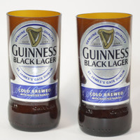 Drinking Glasses - Recycled Beer Bottle - Guinness Black Lager - 8 oz.