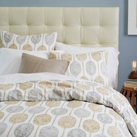 Dot Medallion Duvet Cover, Full/Queen Soot
