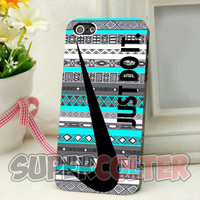 Nike Just Do It on Aztec Mint Pattern - iPhone 4/4s/5/5S/5C Case - iPod 4/5 - Galaxy S3i9300/S4 i9500 Case - Black or White