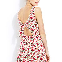 Fawning for Floral Cutout Dress