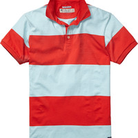 Allover striped jersey polo - Scotch & Soda