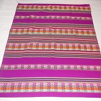 Andean Inca tribal colorful purple Blanket by Aspenandes