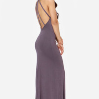 Strap and Gown Dusty Purple Maxi Dress