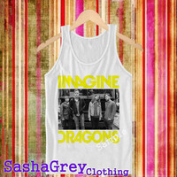 Imagine Dragons White Tank Top _ Tank Top Men's Size S - XXL Design By : sashagreystore
