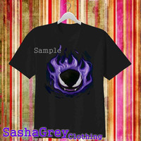 pokemon gengar Black _ T-Shirt Men's Size S - 3XL Design By : sashagreystore