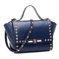 Studded Rivets Crossbody Messenger Flap Bag Tote Purse Handbag