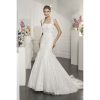 Organza and Taffeta Vintage Sleeveless Mermaid Wedding Dress