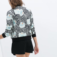 PRINTED NEOPRENE BOMBER JACKET