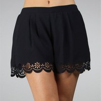 Navy Pleated Pull On Shorts :: www.windsorstore.com