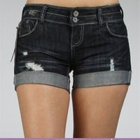 Denim Cuffed Shorts :: www.windsorstore.com