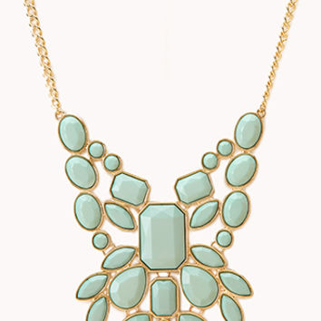 Statement Faux Stone Bib Necklace