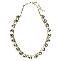Crystal Necklace - Gold/Clear