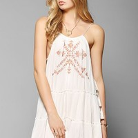 Ecote Meta Side-Tie Tiered Tank Dress - Urban Outfitters