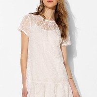 Isabel Lu Floral Lace Drop-Waist Dress - Urban Outfitters