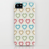 Happy hearts iPhone & iPod Case by Juliagrifol designs