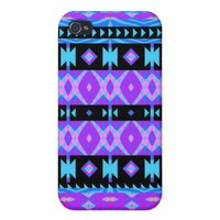 Princess #5 - Purple Tribal iPhone 4 Case