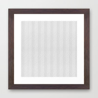 Herringbone DIY Framed Art Print by Project M